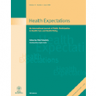 'Putting partnership into practice: participatory wellbeing assessment on a south London housing estate', Andrea Cornwall, P. Hall, K. Kennedy and F. Owen, Health Expectations, 6(1): 30-43, 2003.